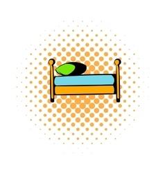 Single bed comics icon vector