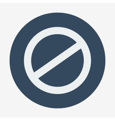 Single flat deny icon Cancel vector
