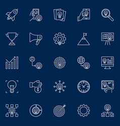 start-up outline icons startup business vector image