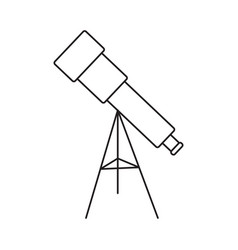 telescope line icon vector image