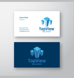 Top view real estate abstract modern logo vector