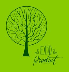 Tree hand drawn eco 3 vector