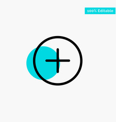 Twitter add contact turquoise highlight circle vector