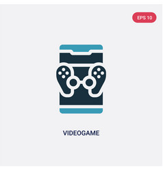 two color videogame icon from mobile app concept vector image