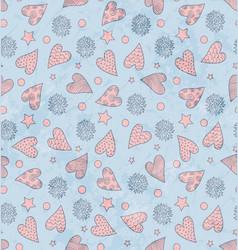 Valentines cute pattern vector