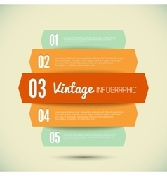 Vintage template for your infographic vector