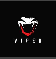 viper snake logo letter v viper logo vector image
