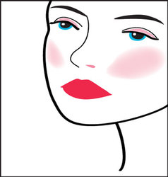woman-face-15 vector image