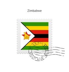 Zimbabwe Flag Postage Stamp vector image