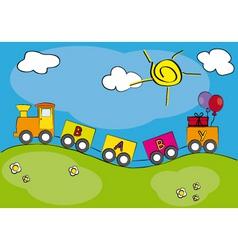children railway vector image vector image