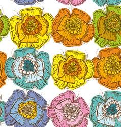 Elegance Seamless pattern orange blue yellow pink vector image vector image