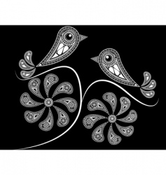 ethnic style birds vector image vector image