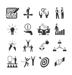 Mentoring Icons Set vector image vector image