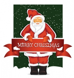 Santa Claus with Christmas ban vector image vector image