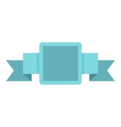 Blue label icon flat style vector image