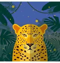 Leopard on the Jungle Background vector image vector image