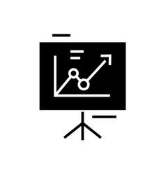 presentation board - flip chart icon vector image