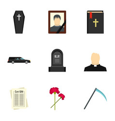 Rip icons set flat style vector