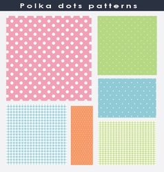 Beautiful polka dots patterns vector image