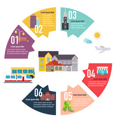 different places to live houses infographic flat vector image
