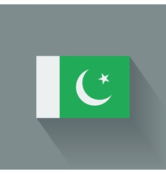 Flat flag of Pakistan vector image