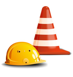 road cone and helm vector image