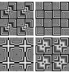Seamless op art patterns vector