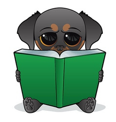 Dog Book vector image vector image