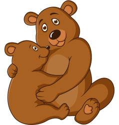 mother and baby bear vector image