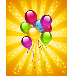 Party birthday balloons vector image vector image