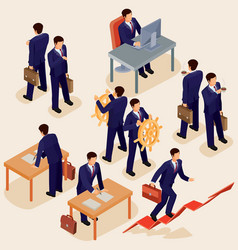 3d flat isometric people vector
