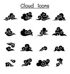 abstract cloud chinese cloud curl cloud vector image
