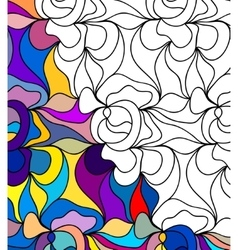 Abstract seamless fantasy pattern hand drawn vector