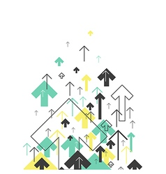 Abstract Success Concept Growing arrows Motion Up vector image