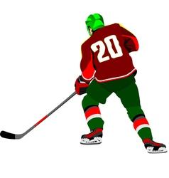 al 0643 hockey player 01 vector image