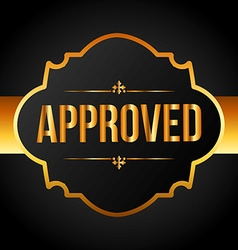 approved seal vector image