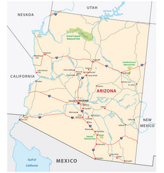 Arizona road map vector
