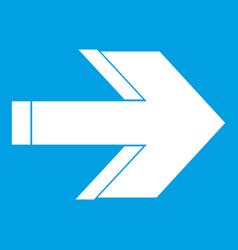 Arrow icon white vector