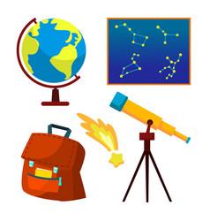 astronomy icon telescope starry sky vector image
