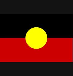 Australian aboriginal flag vector