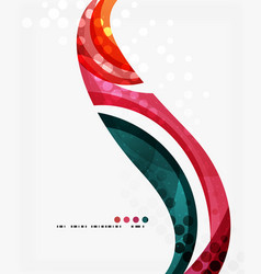 Beautiful colorful wave template vector