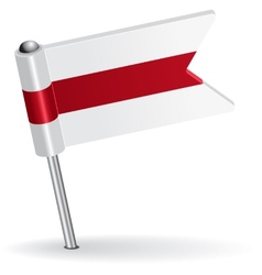 Belarus pin icon flag vector