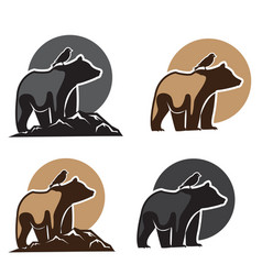 birds and bears logo vector image