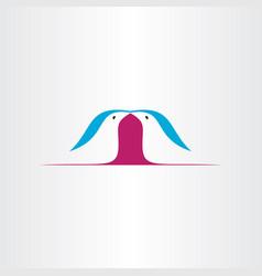 birds kissing love icon logo design vector image
