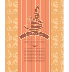 birthday cakes candle and pattern background vector image