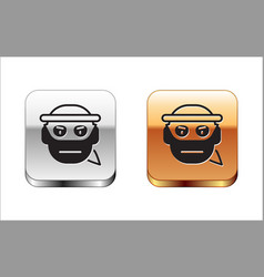 Black bandit icon isolated on white background vector