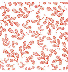 botanicals pattern moringa white background vector image
