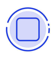 Box checkbox unchecked blue dotted line line icon vector