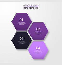 business infographics template design for vector image