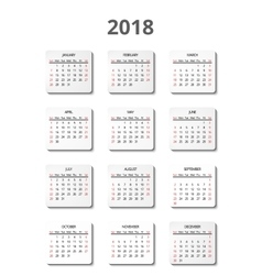 calendar for 2018 year page posters vector image